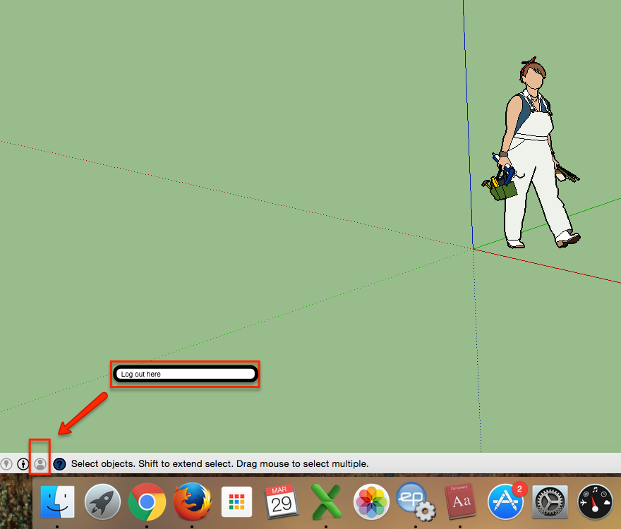 SketchUp account log out