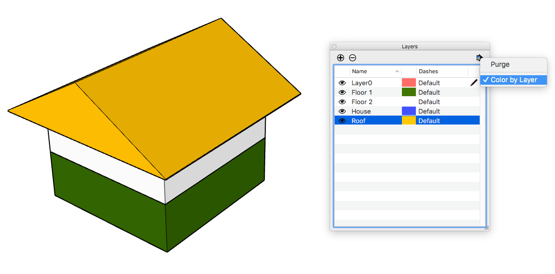 sketchup color by layer not working