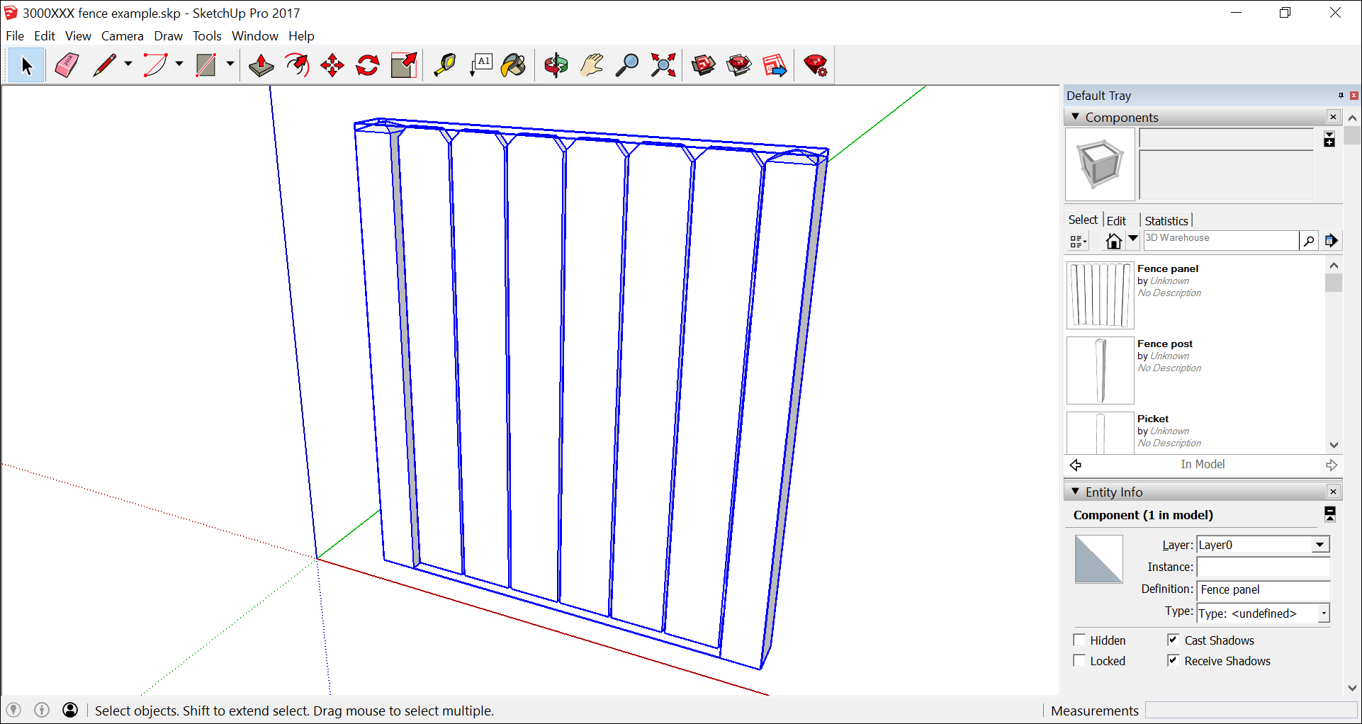 Edit an SketchUp component instance or definition.