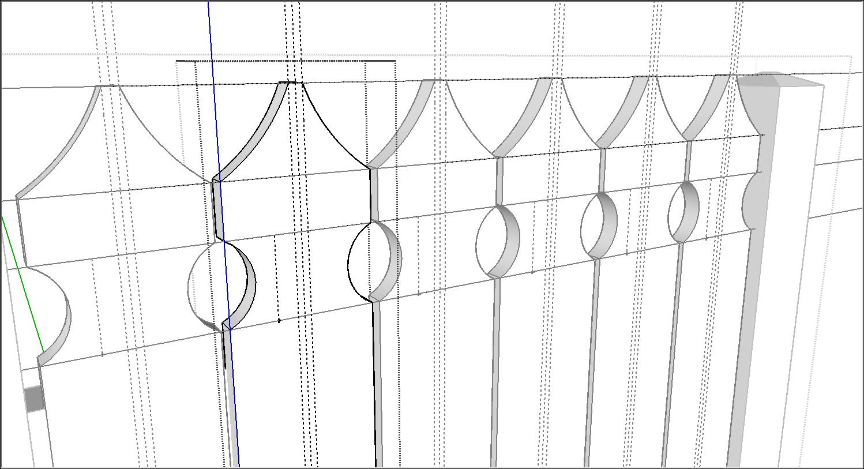 編輯SketchUp組件定義時,所有組件實例都會自動更新