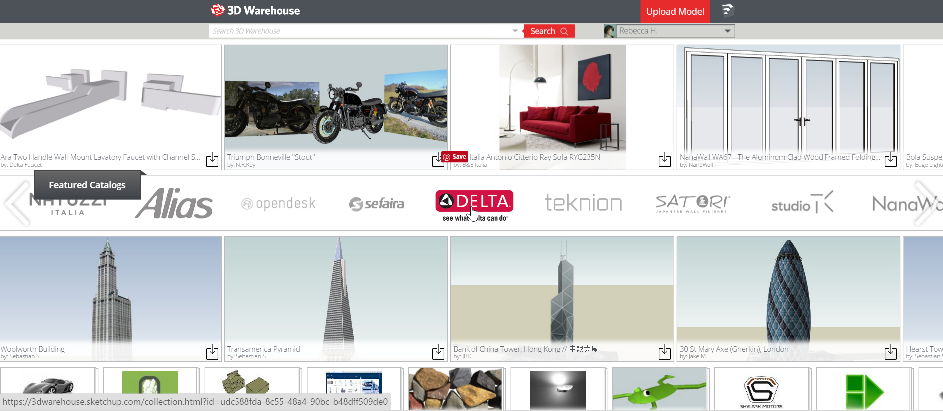 Promoting a 3D Warehouse catalog increases its visibility