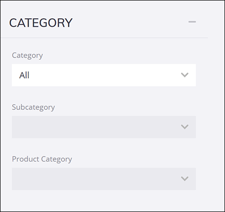 The Category options on a 3D Warehouse search results page