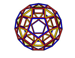 A rhombicosidodecahedron