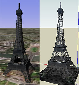 In Google Earth and SketchUp