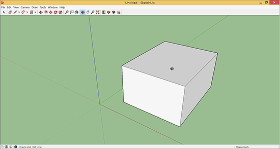 The Orbit tool changes the view of your 3D model.