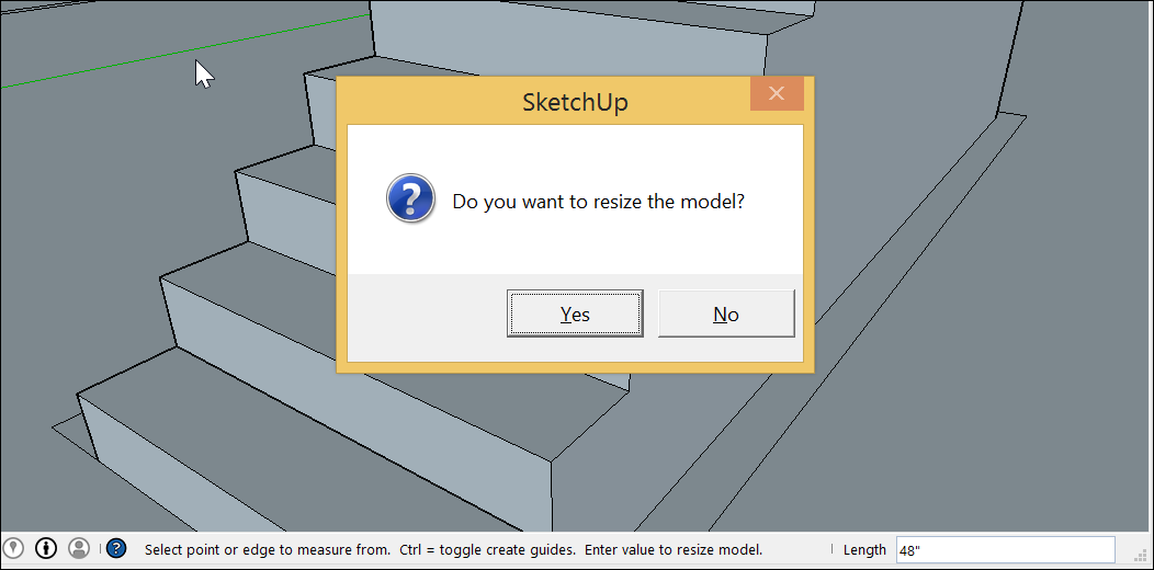 Scaling Your Model or Parts of Your Model   SketchUp Help