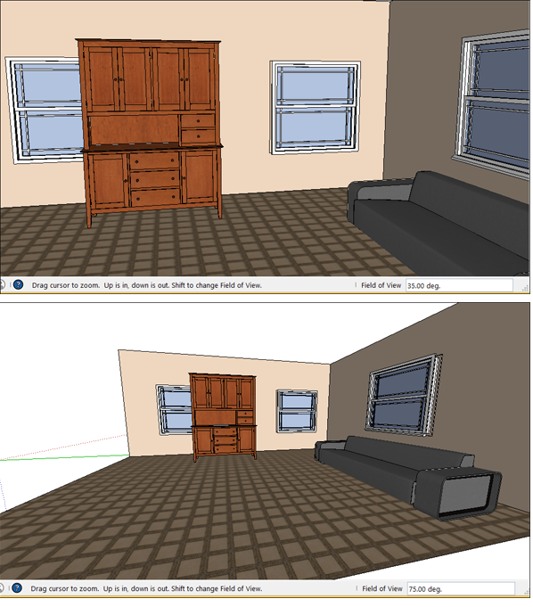 Viewing A Model Sketchup Help