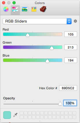 In The Following Figure You See SketchUps RGB Color Picker Mac OS X