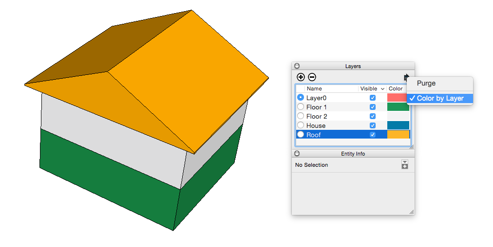 Controlling Visibility with Layers | SketchUp Help