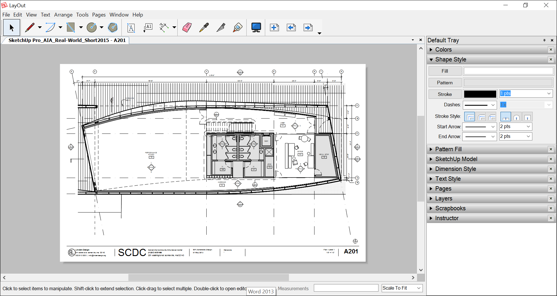 Insert SketchUp models into LayOut documents and keep the files synched automatically.