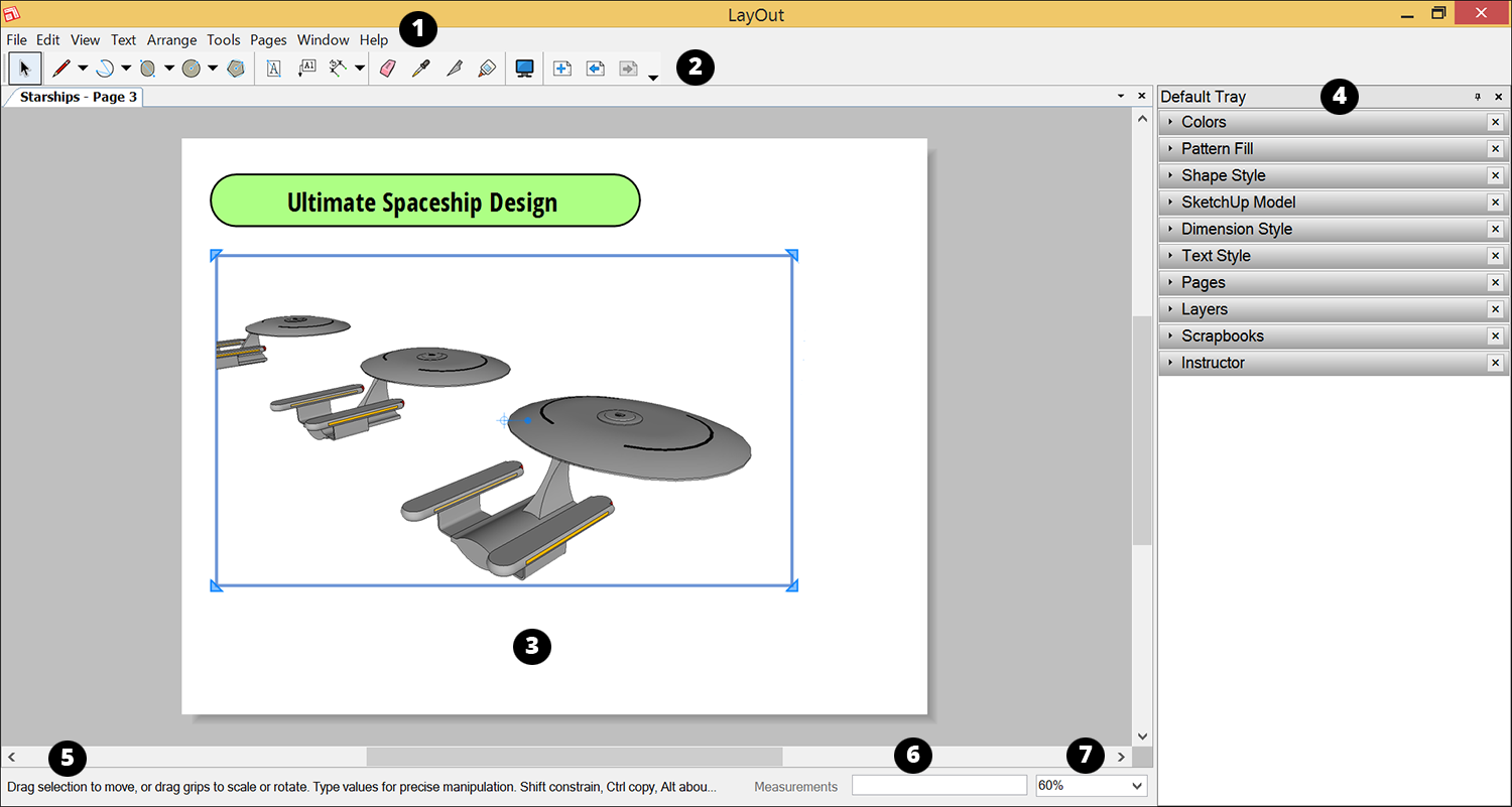Introducing The Layout Interface Sketchup Help