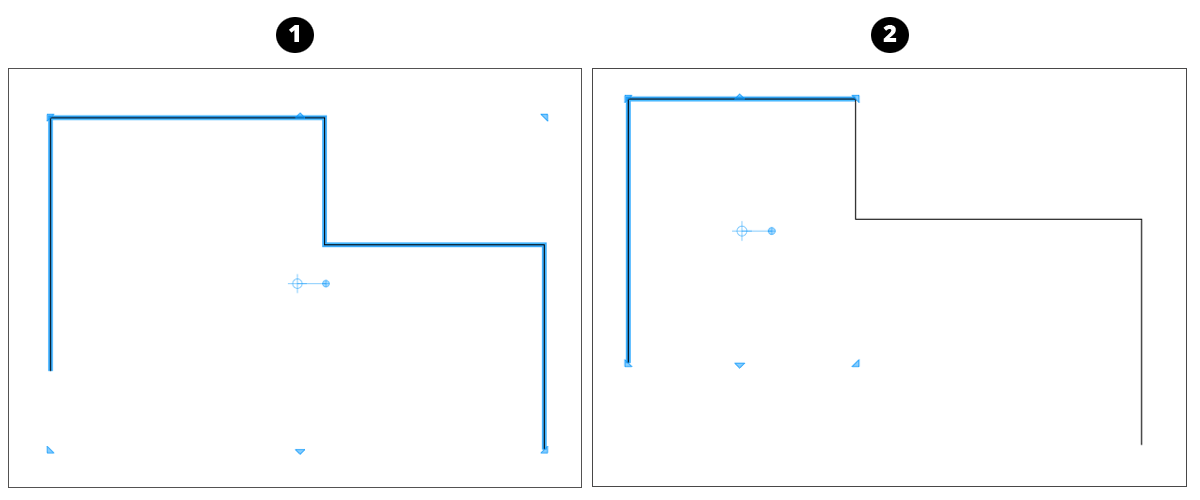 In LayOut, you can control how  Auto Join works when you start a line at an existing end point.