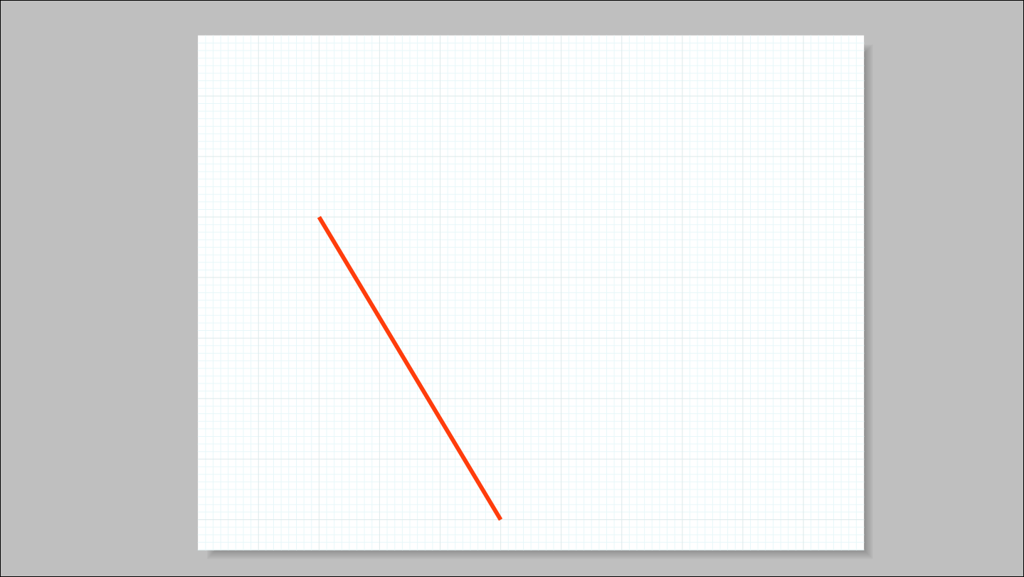 Use the Measurements box to create a line based on absolute coordinates