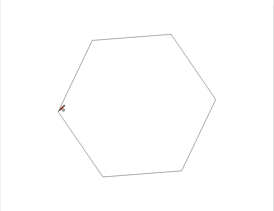 LayOuts Polygon tool enables you to specify how many sides the polygon has