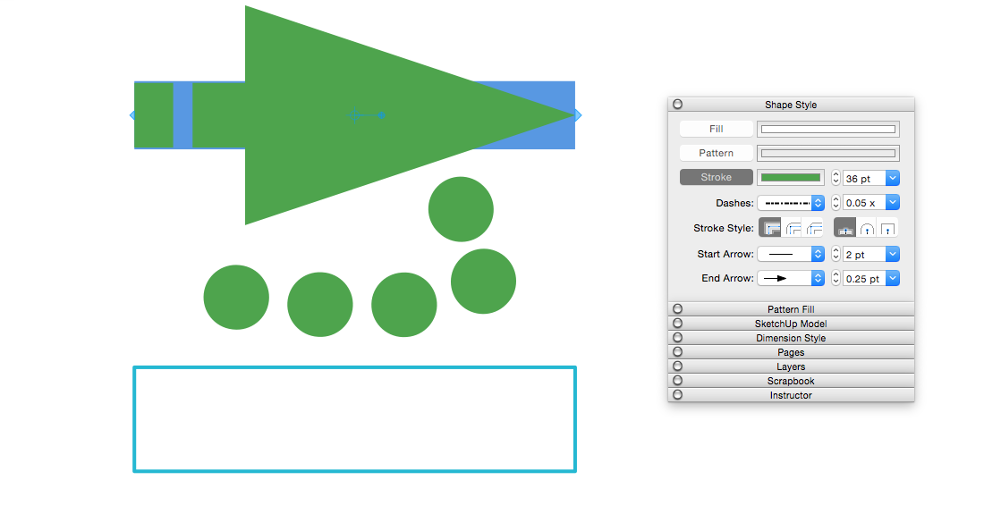 Customizing Line Widths And Styles Sketchup Help