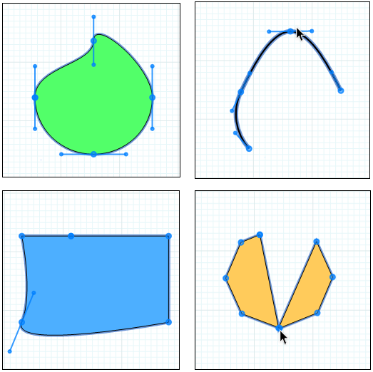 Lines And Shapes : Bending lines and shapes with paths points sketchup