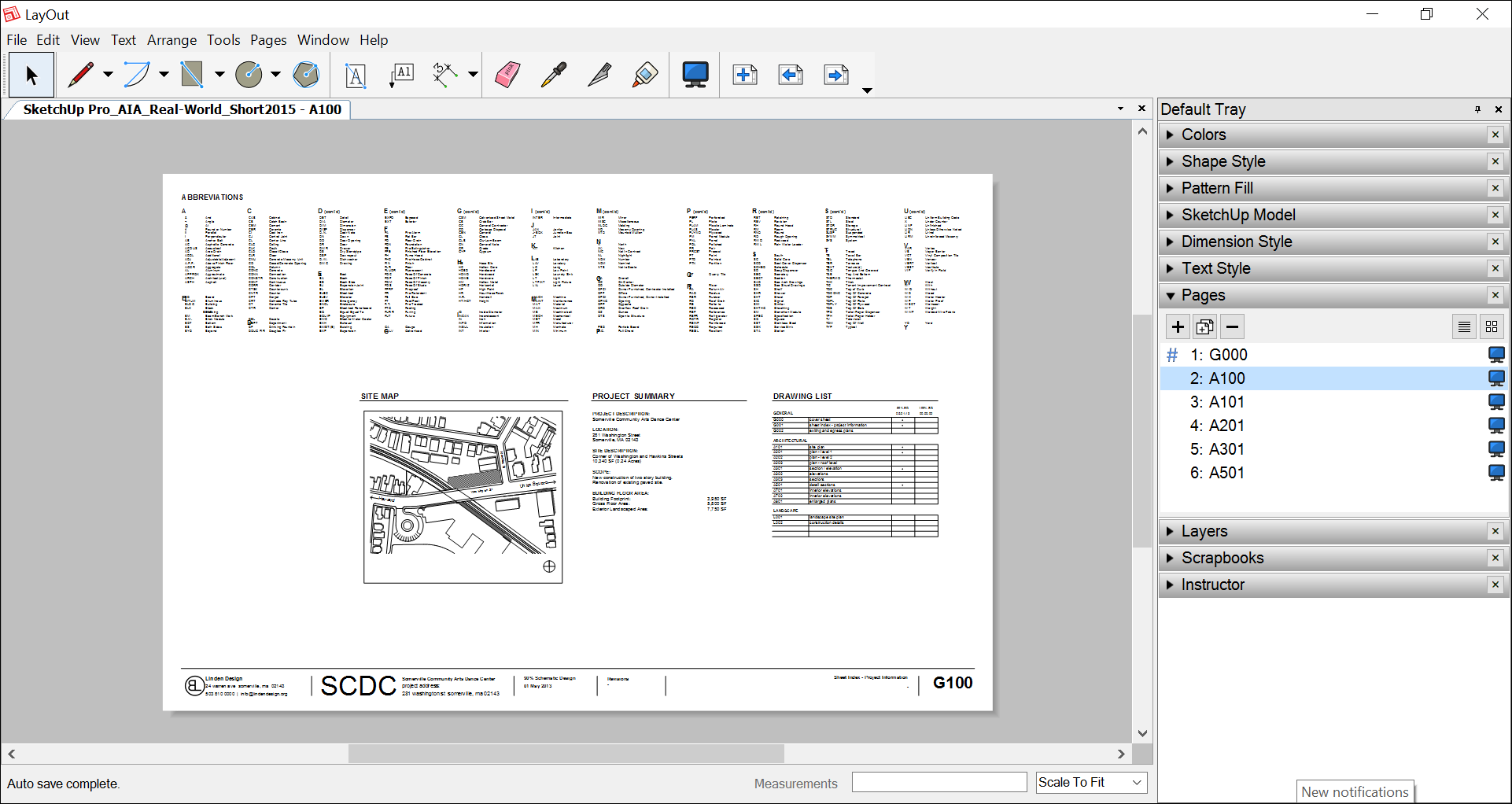 In LayOut, the Pages panel helps you manage and navigate the pages in your document.