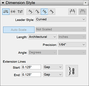 Dimension Style panel in LayOut