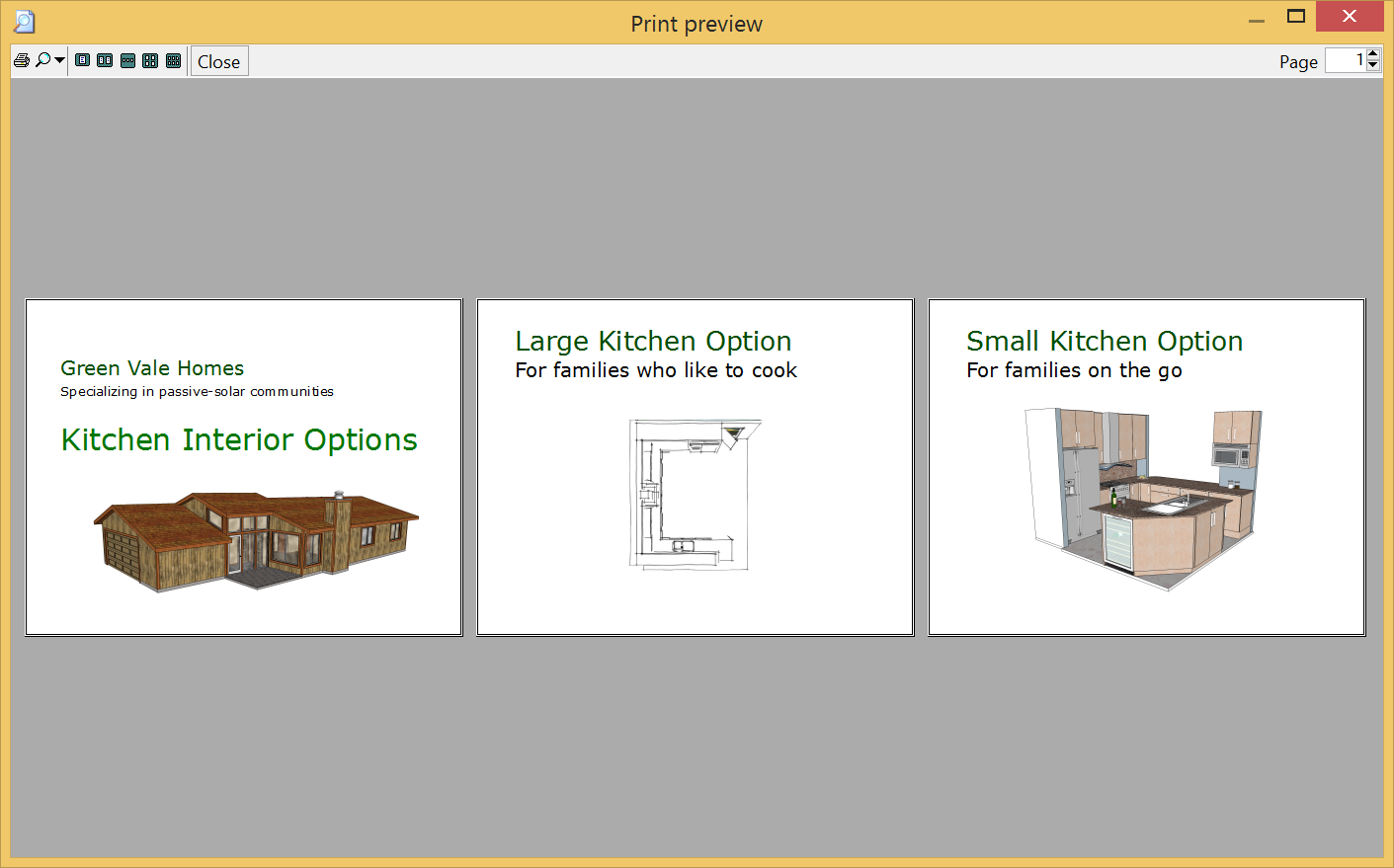 LayOuts Print Preview dialog box for Microsoft Windows