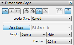 LayOut enables you to style dimension text and units in the Dimension Style panel.