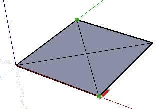Draw the other part of the diagonal line
