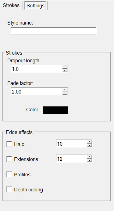 On Style Builders Settings tab, choose global settings for all the strokes in the Sets pane