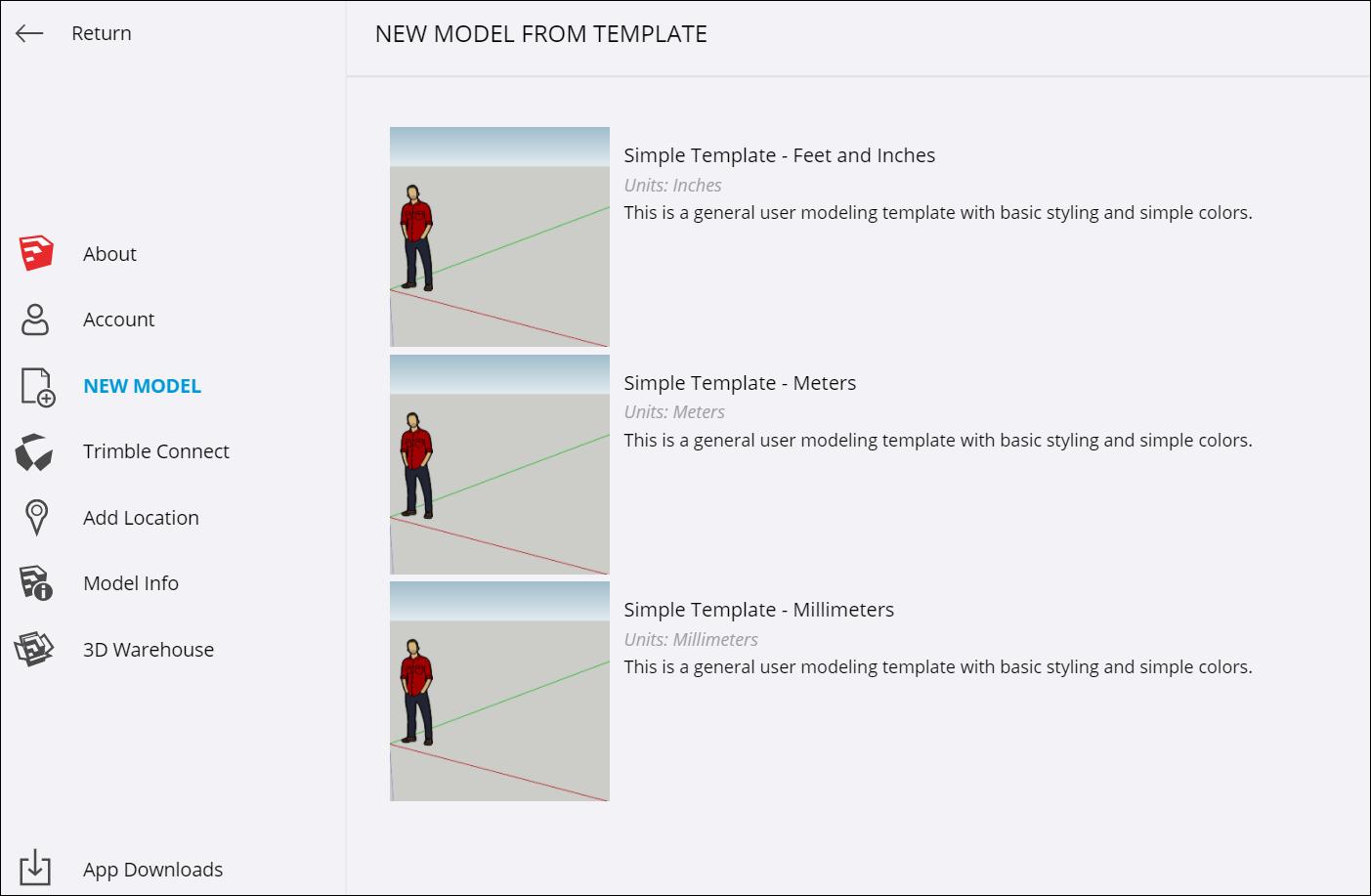 Creating and editing models sketchup knowledge base selecting a template in sketchup for web buycottarizona