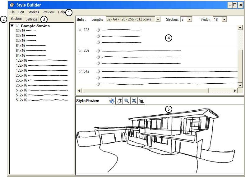 Style builder user interface sketchup knowledge base for 3d setup builder