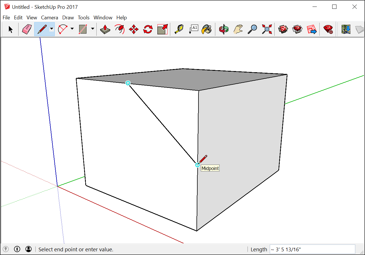 Introducing Drawing Basics And Concepts Sketchup Help Lighting Diagram Creator Mac The Inference Engine Can Also You Find Geometric Relationships Between Lines For Example It Tells When A Line Youre Is Perpendicular To