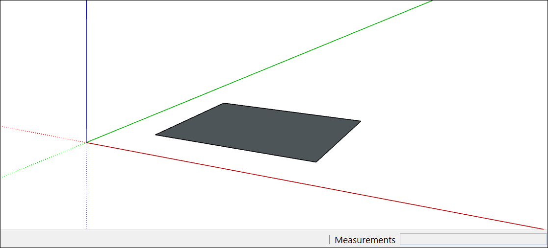 In SketchUp, many 3D models begin with a basic rectangle