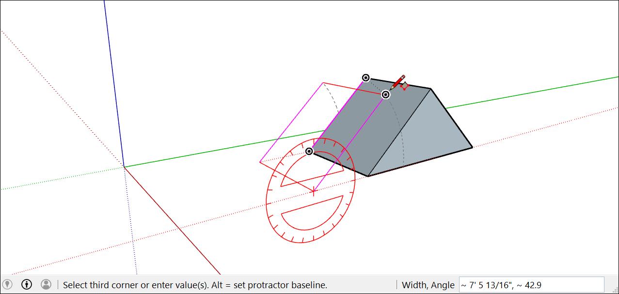 推理可以幫助您將旋轉的矩形與附近的幾何體對齊
