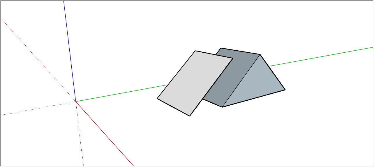A rotated rectangle in SketchUp