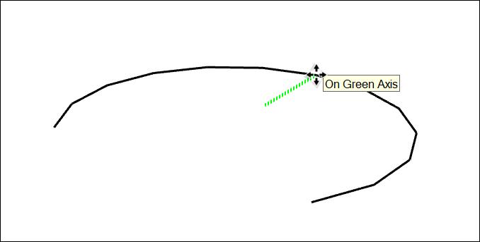 """在SketchUp中,使用""""移動""""工具調整圓弧的中點"""