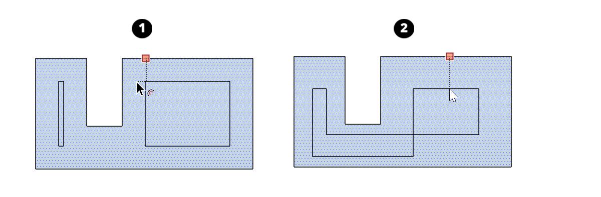 """在SketchUp 2017中,""""偏移""""工具消除了重疊,但您可以使用修改鍵顯示它們"""