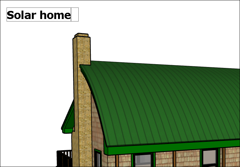 Adding screen text to a SketchUp model