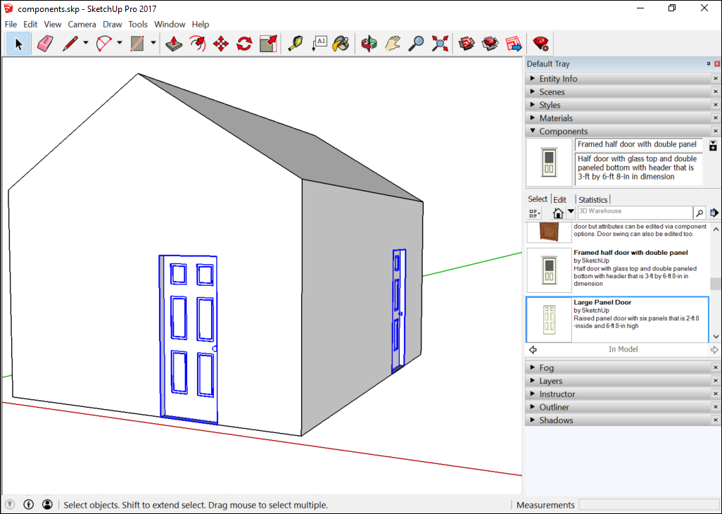 Adding Premade Components And Dynamic Components Sketchup Help