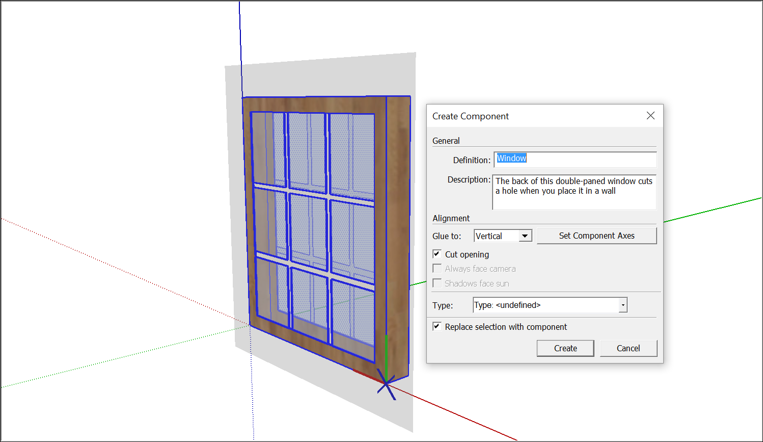 Creating a Basic Component | SketchUp Help