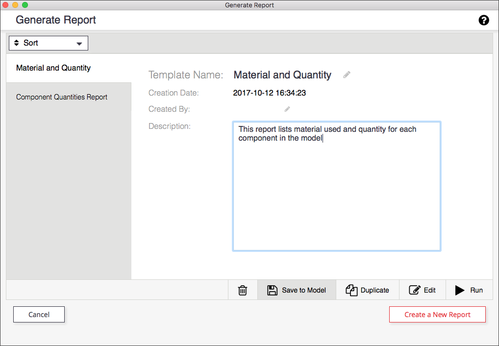 In the SketchUp Generate Report feature, click Save Changes to save a report template with your model file