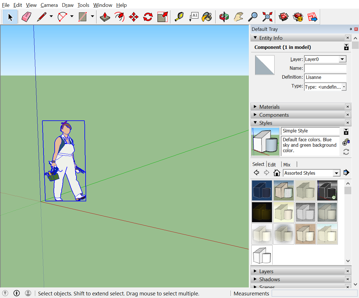 sketchup how to make a window in a face