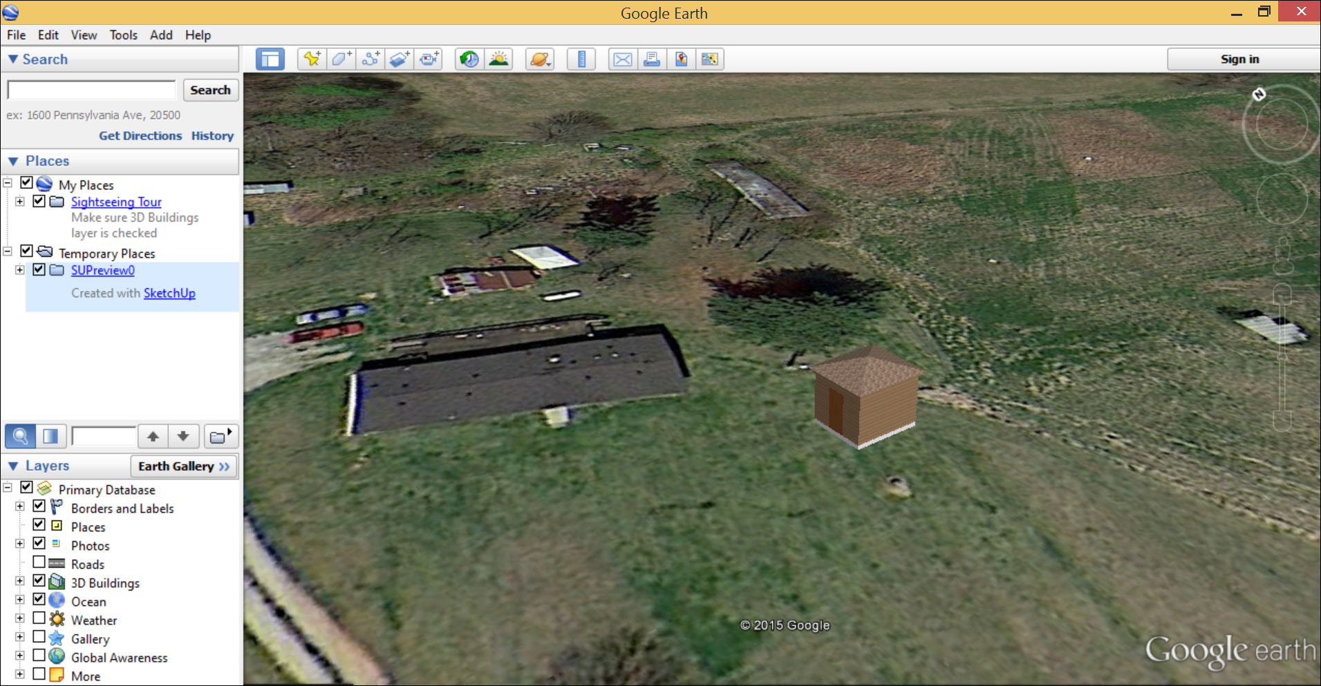 Viewing your model in google earth sketchup knowledge base note that sometimes google earth imagery is a little older than whats in google maps aerial or street view photography also in flat areas or areas with gumiabroncs Image collections