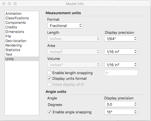 Managing Units Of Measurement Sketchup Help