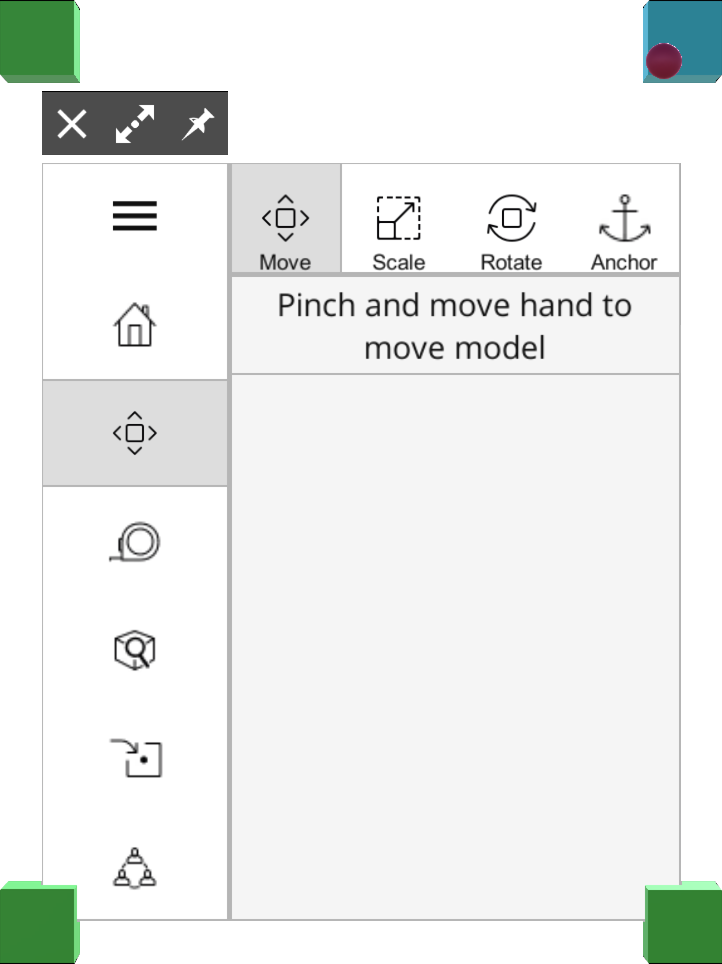In SketchUp Viewer for HoloLens you can resize the Home Screen or the Model Viewer toolbar