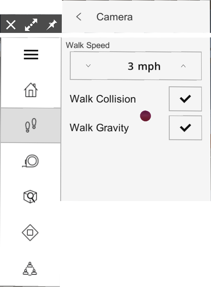 In SketchUp Viewer for HoloLens you can change your navigation settings
